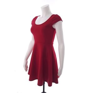 Try This Red Solid Small Womens Dress